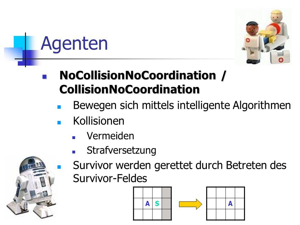 Agenten NoCollisionNoCoordination / CollisionNoCoordination