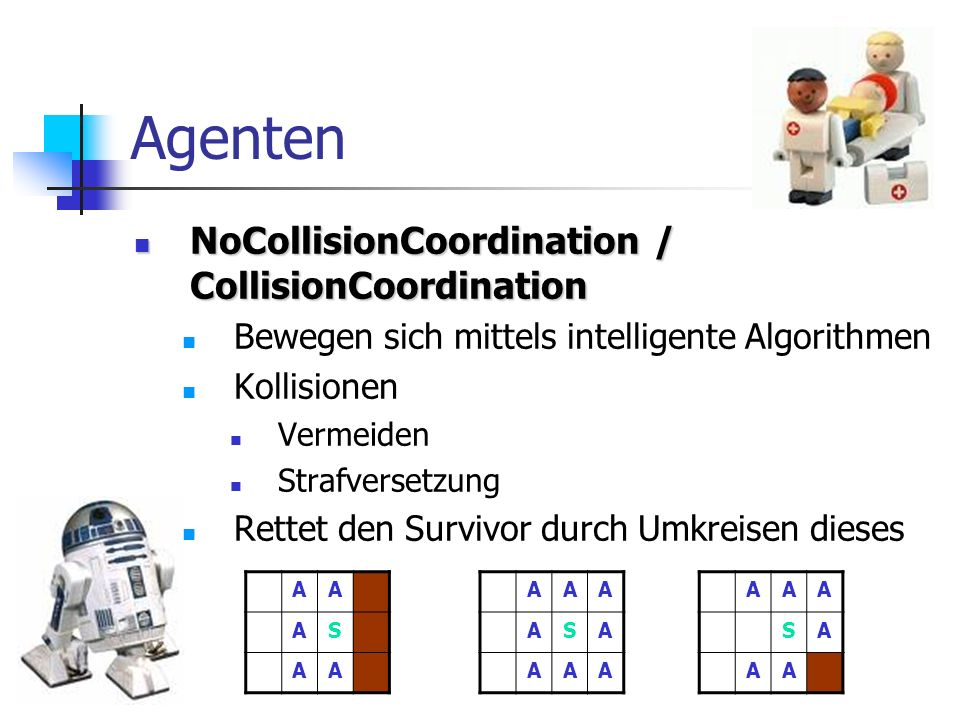Agenten NoCollisionCoordination / CollisionCoordination
