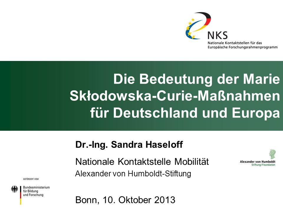Die Bedeutung der Marie Skłodowska-Curie-Maßnahmen für Deutschland und Europa