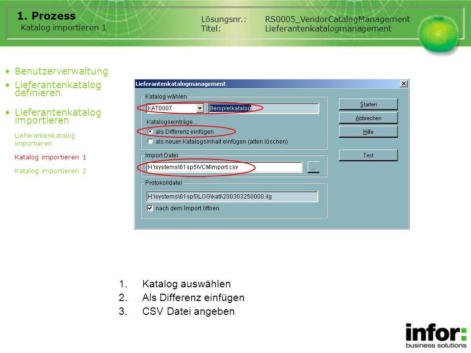 Als Differenz einfügen CSV Datei angeben