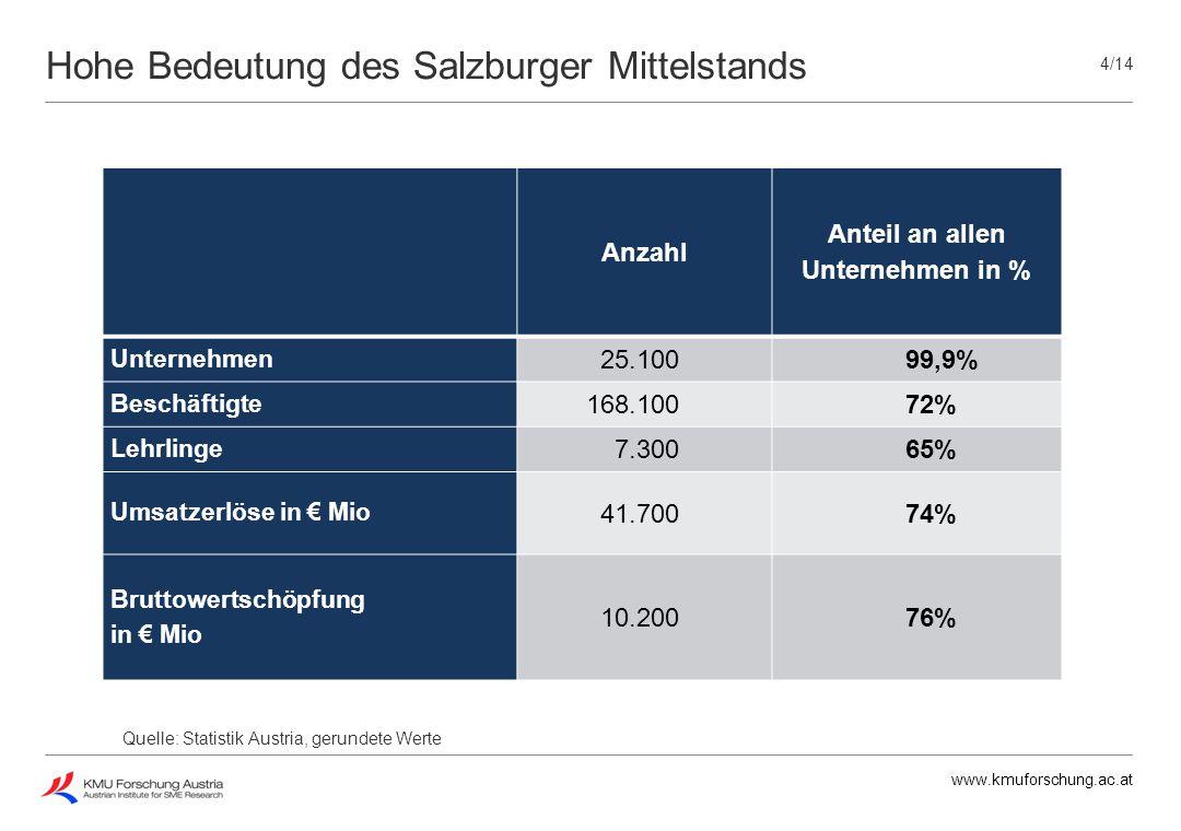 Hohe Bedeutung des Salzburger Mittelstands