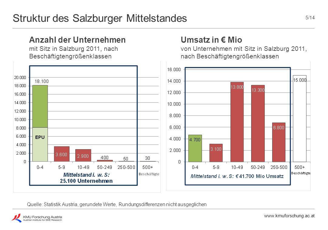 Struktur des Salzburger Mittelstandes