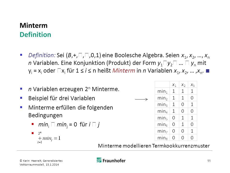 Minterm Definition
