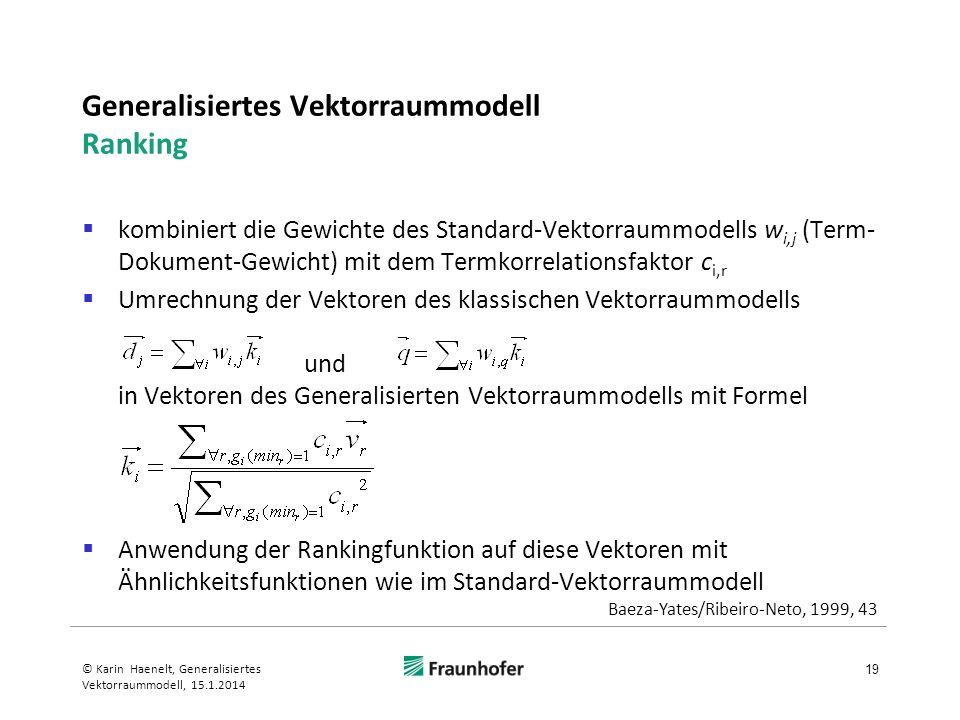 Generalisiertes Vektorraummodell Ranking