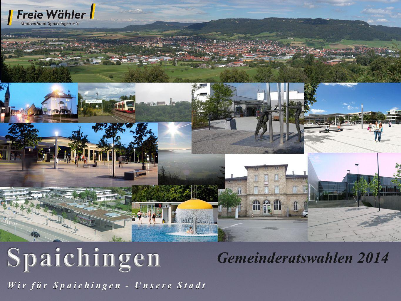 Spaichingen Gemeinderatswahlen 2014 Wir für Spaichingen - Unsere Stadt
