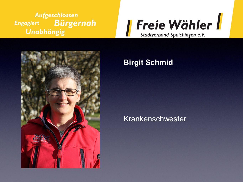 Birgit Schmid Krankenschwester