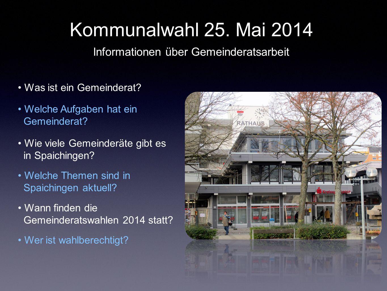 Informationen über Gemeinderatsarbeit