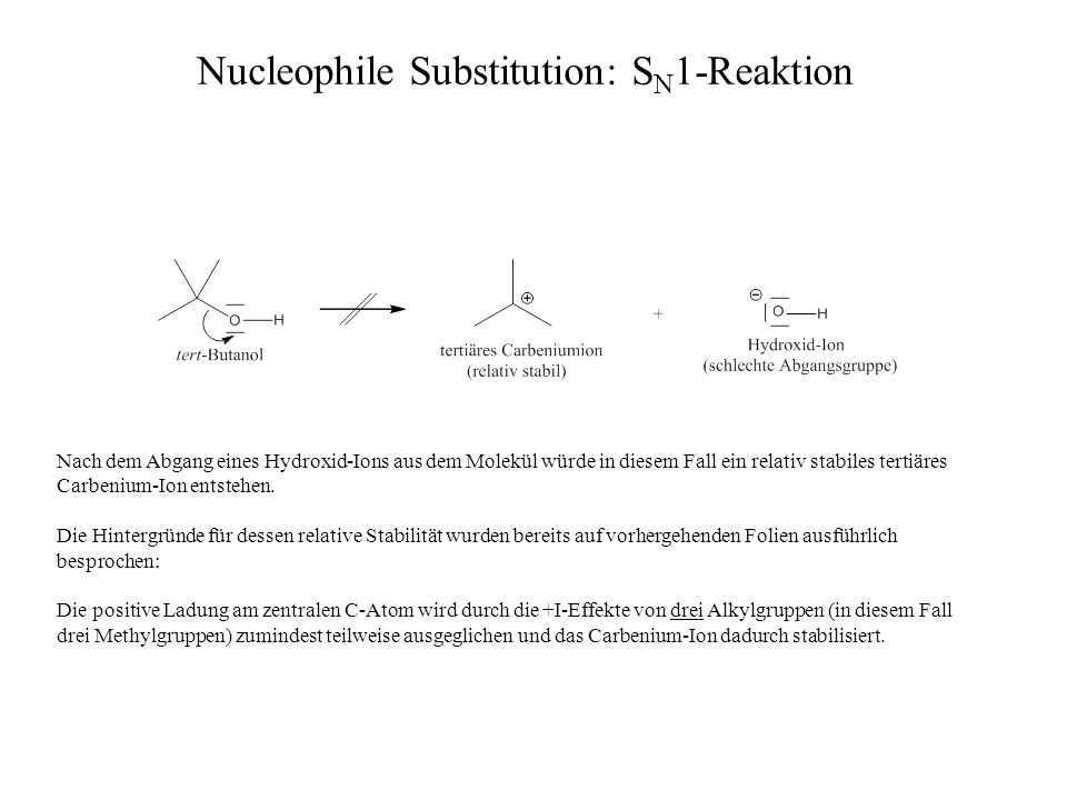 Nucleophile Substitution: SN1-Reaktion