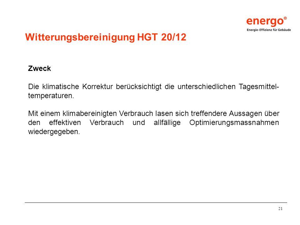 Witterungsbereinigung HGT 20/12
