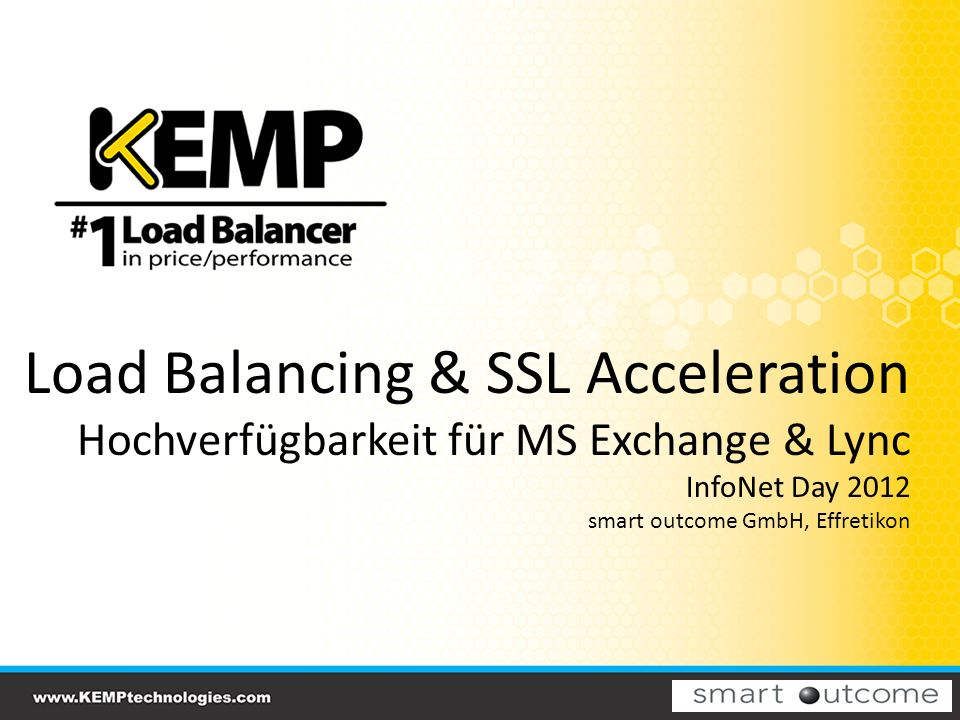 Load Balancing & SSL Acceleration