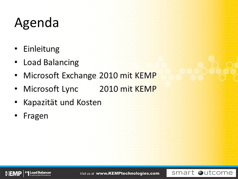 Agenda Einleitung Load Balancing Microsoft Exchange 2010 mit KEMP