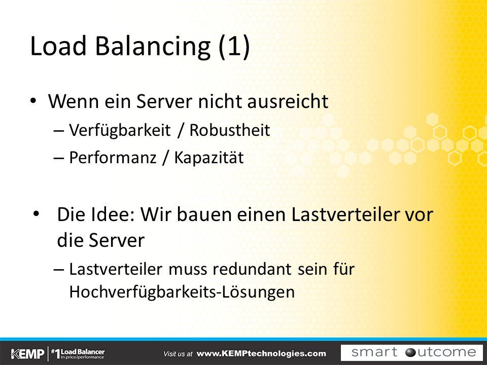 Load Balancing (1) Wenn ein Server nicht ausreicht
