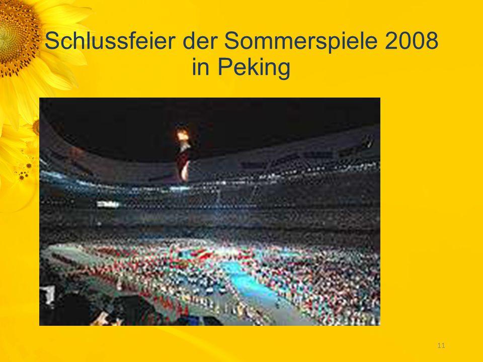 Schlussfeier der Sommerspiele 2008 in Peking