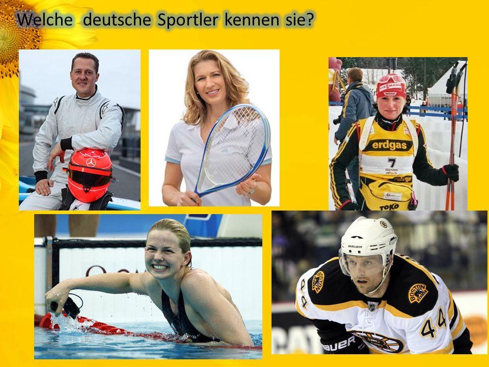 Welche deutsche Sportler kennen sie