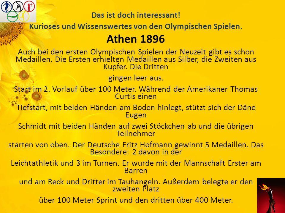 Athen 1896 Das ist doch interessant!
