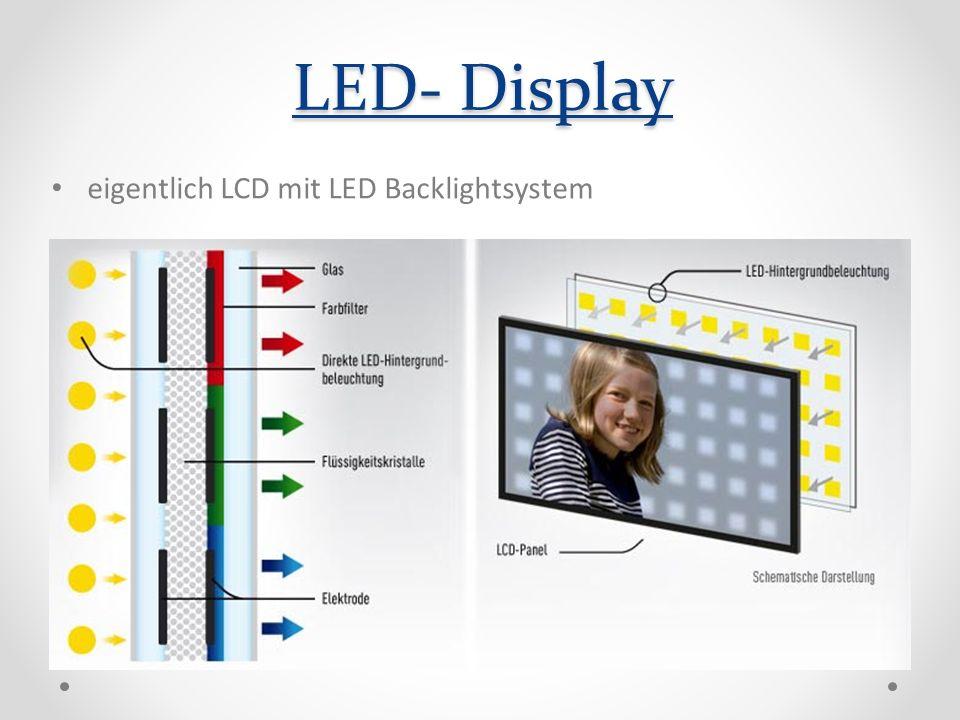 LED- Display eigentlich LCD mit LED Backlightsystem