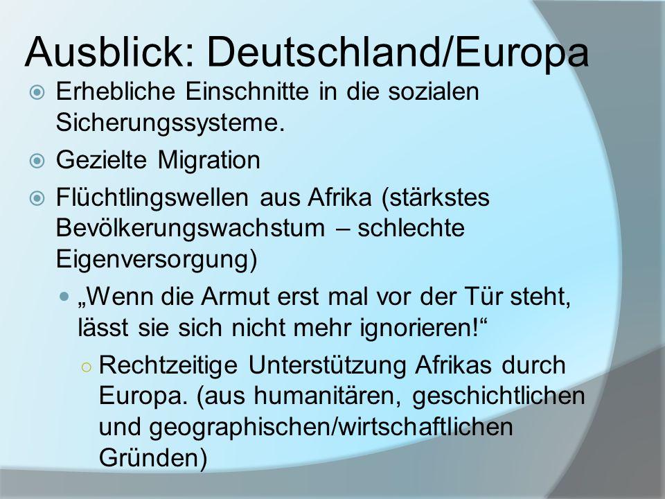 Ausblick: Deutschland/Europa
