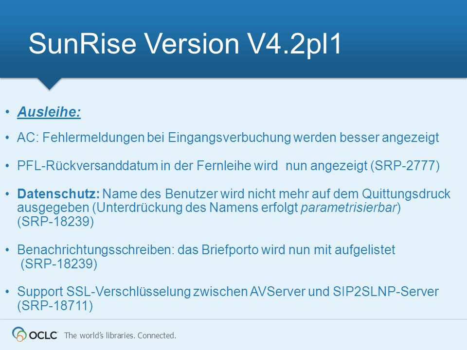 SunRise Version V4.2pl1 Ausleihe: