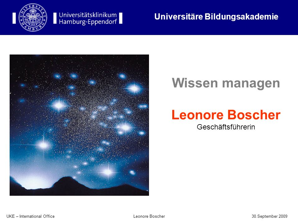 Wissen managen Leonore Boscher