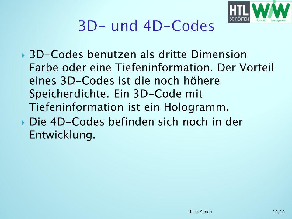 3D- und 4D-Codes