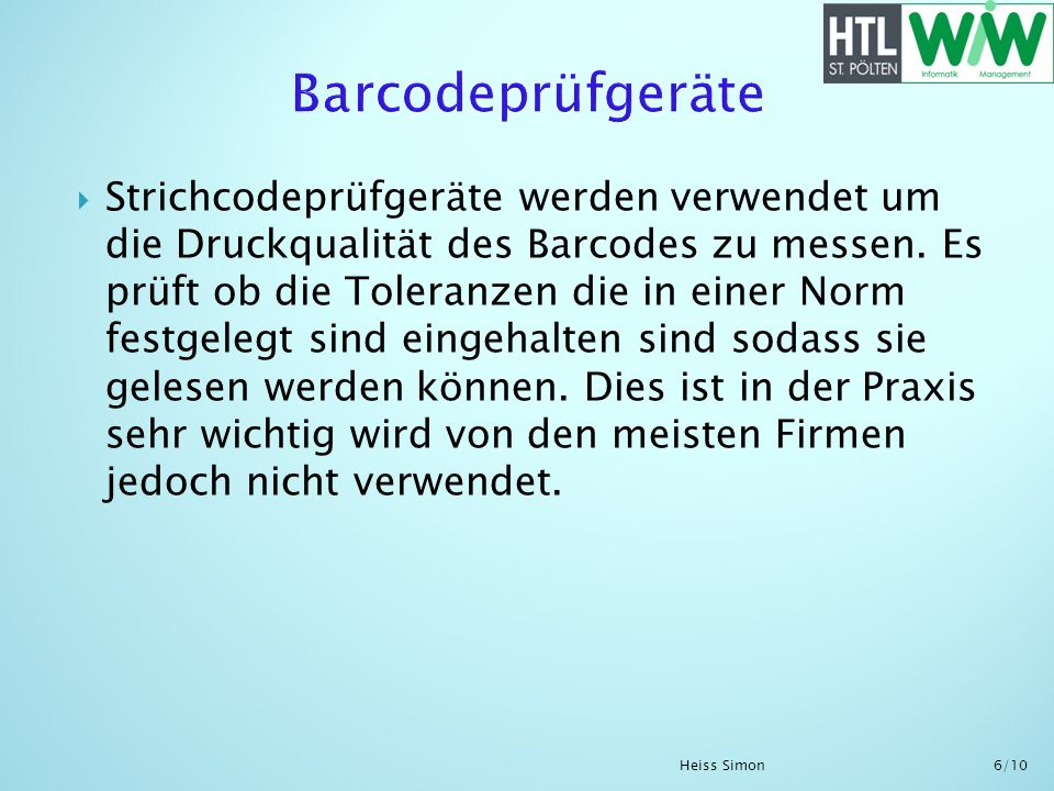 Barcodeprüfgeräte