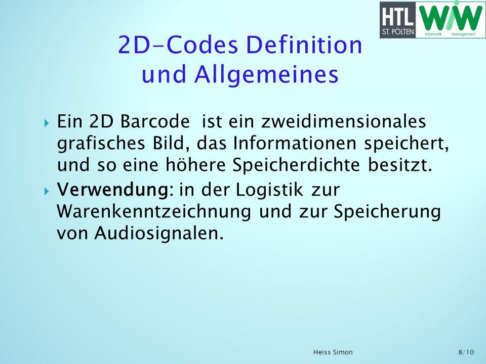 2D-Codes Definition und Allgemeines