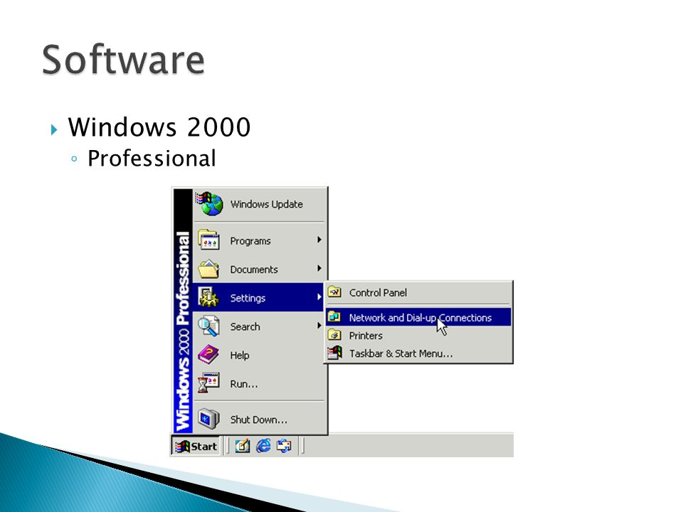 Software Windows 2000 Professional