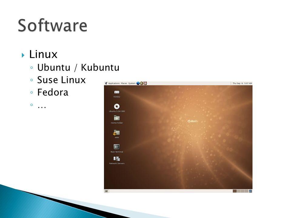 Software Linux Ubuntu / Kubuntu Suse Linux Fedora …