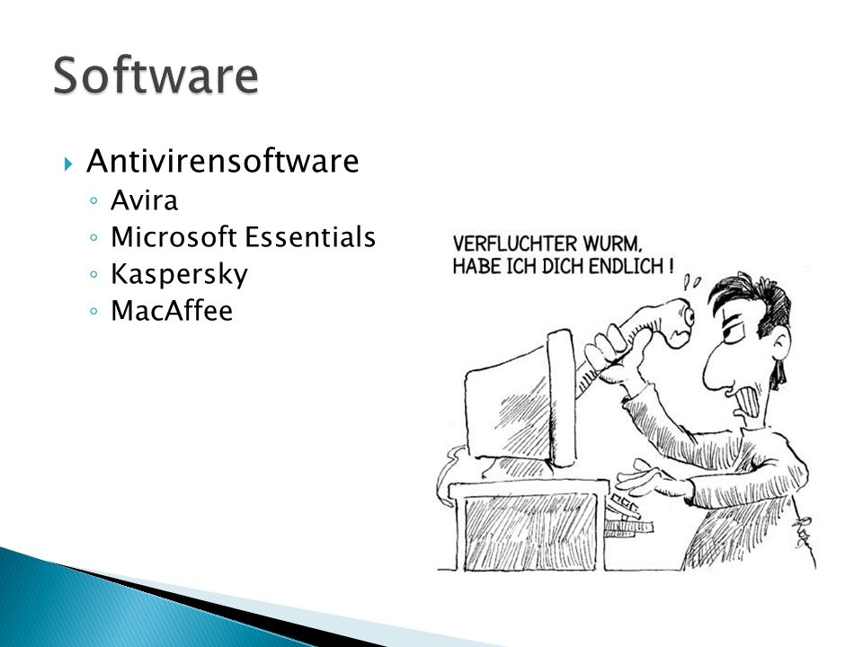 Software Antivirensoftware Avira Microsoft Essentials Kaspersky