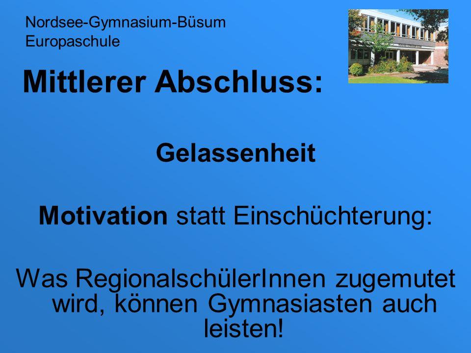 Motivation statt Einschüchterung: