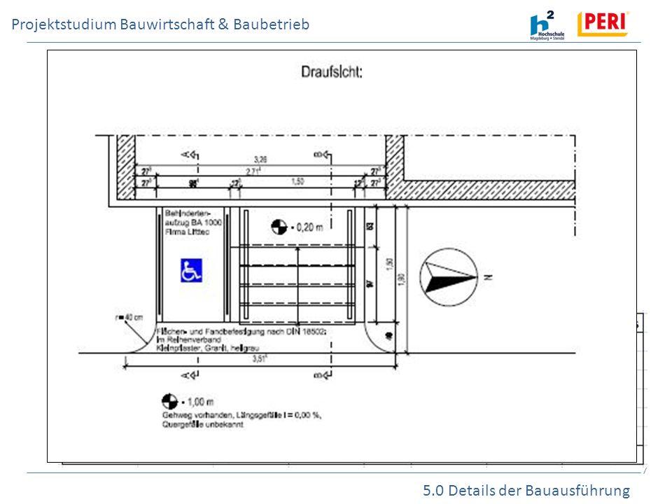 5.0 Details der Bauausführung