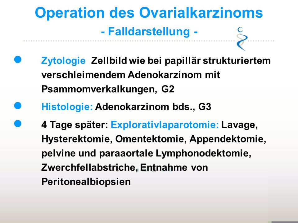 Operation des Ovarialkarzinoms