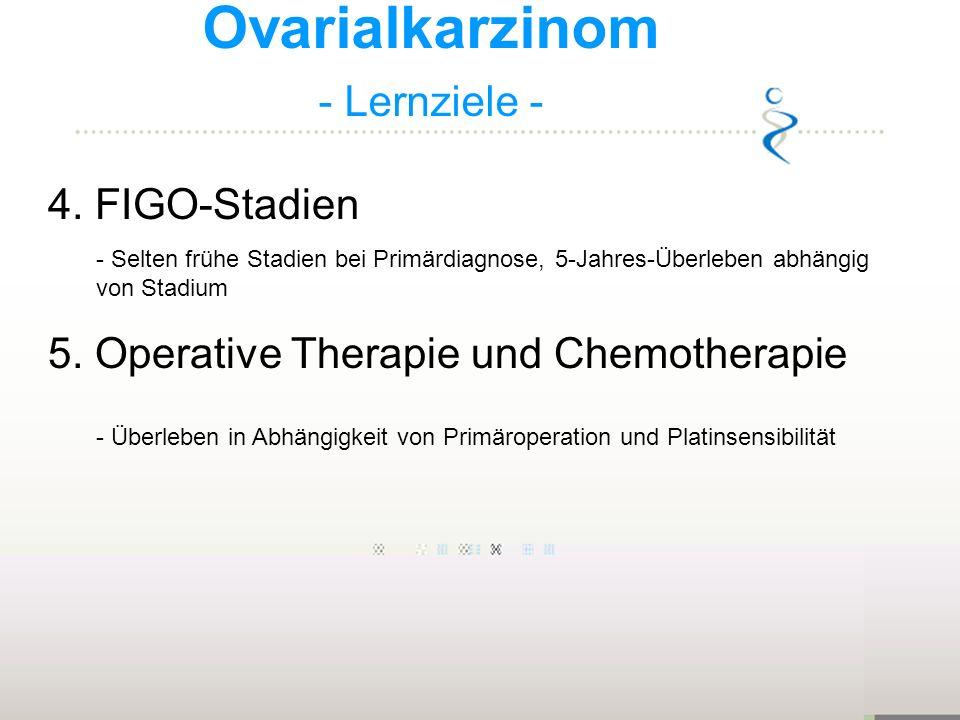 Ovarialkarzinom - Lernziele - 4. FIGO-Stadien