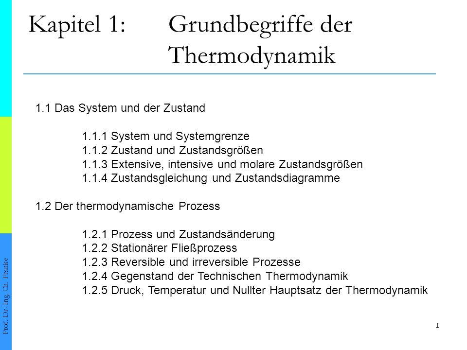 Kapitel 1: Grundbegriffe der Thermodynamik