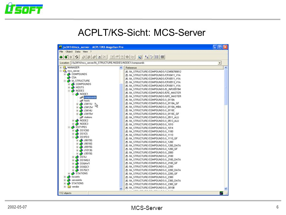ACPLT/KS-Sicht: MCS-Server