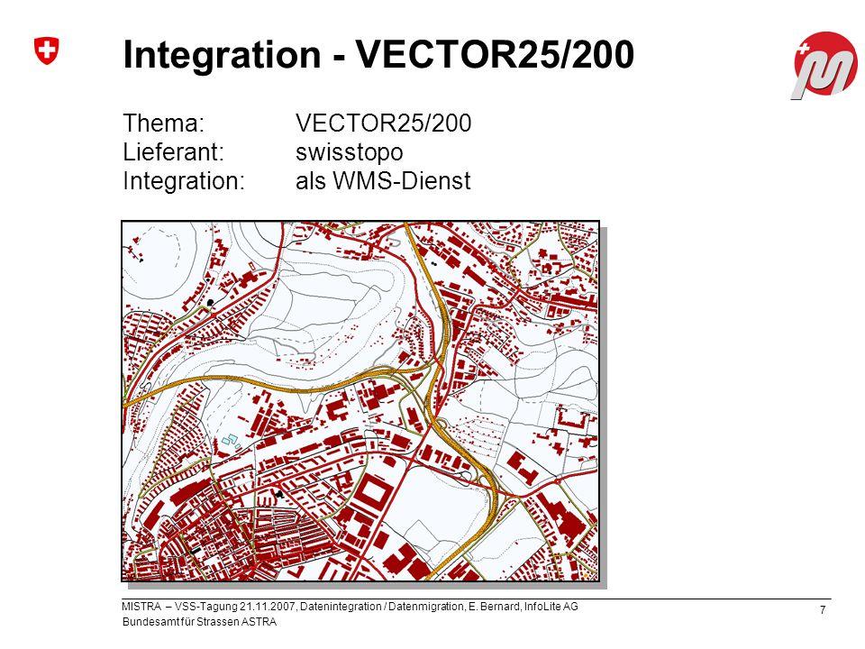 Integration - VECTOR25/200 Thema: VECTOR25/200 Lieferant: swisstopo