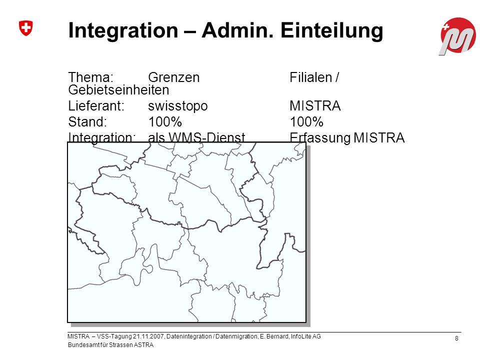 Integration – Admin. Einteilung