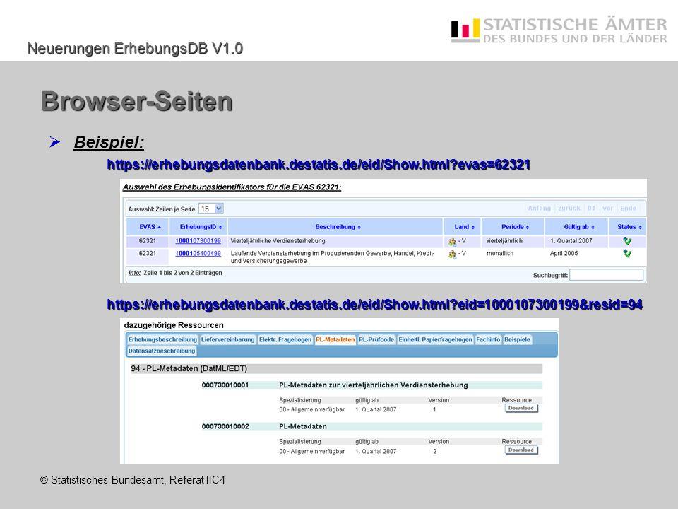 Browser-Seiten Beispiel:
