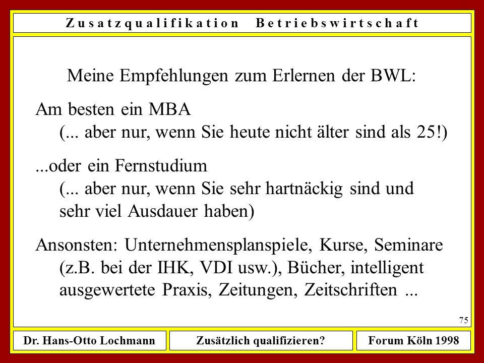 Meine Empfehlungen zum Erlernen der BWL: