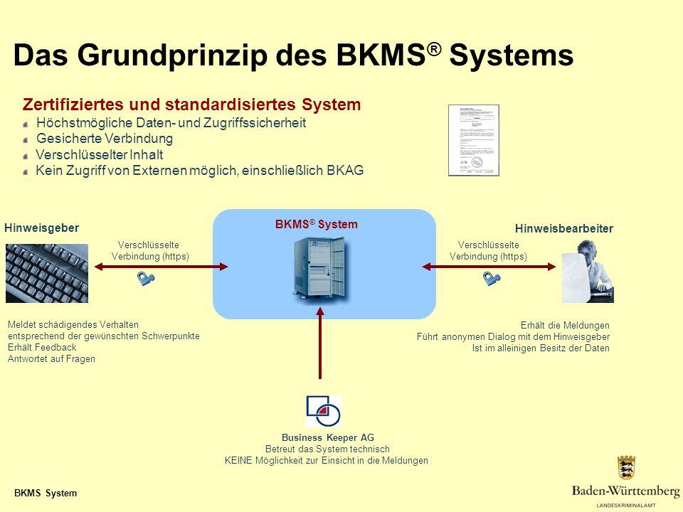 Das Grundprinzip des BKMS® Systems