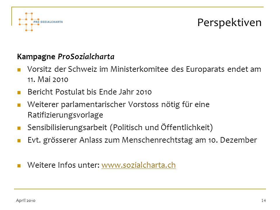 Perspektiven Kampagne ProSozialcharta