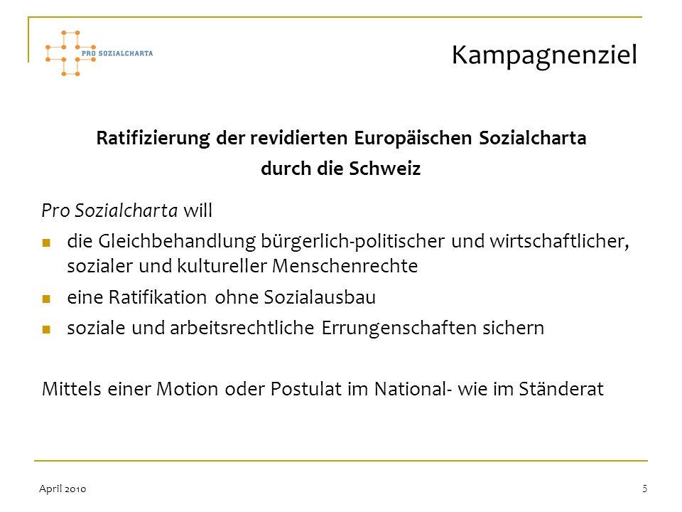 Ratifizierung der revidierten Europäischen Sozialcharta