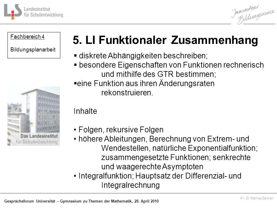 5. LI Funktionaler Zusammenhang