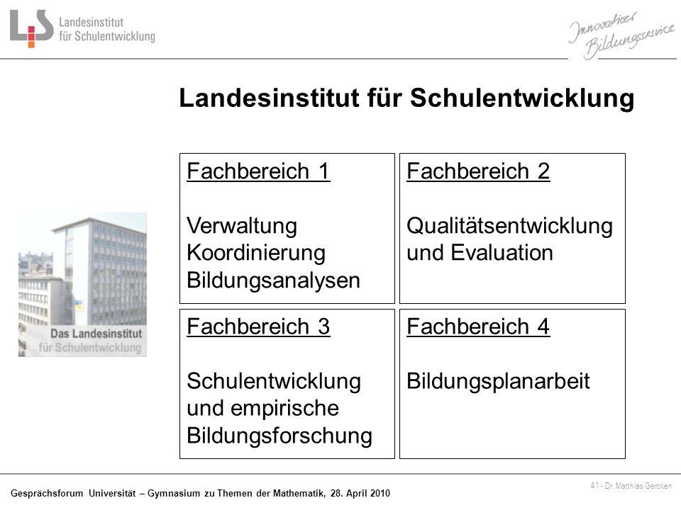 Landesinstitut für Schulentwicklung
