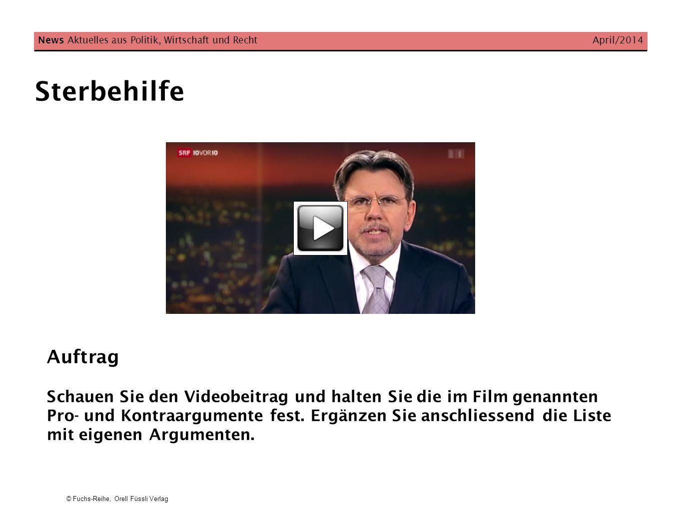 News Aktuelles aus Politik, Wirtschaft und Recht April/2014