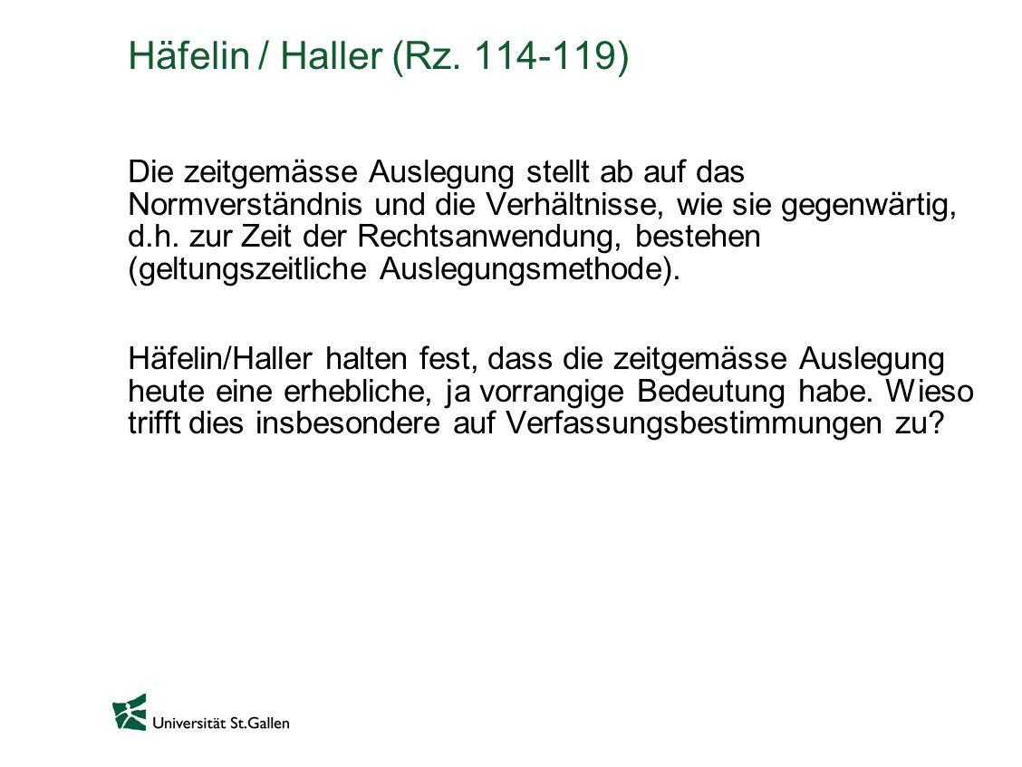 Häfelin / Haller (Rz. 114-119)