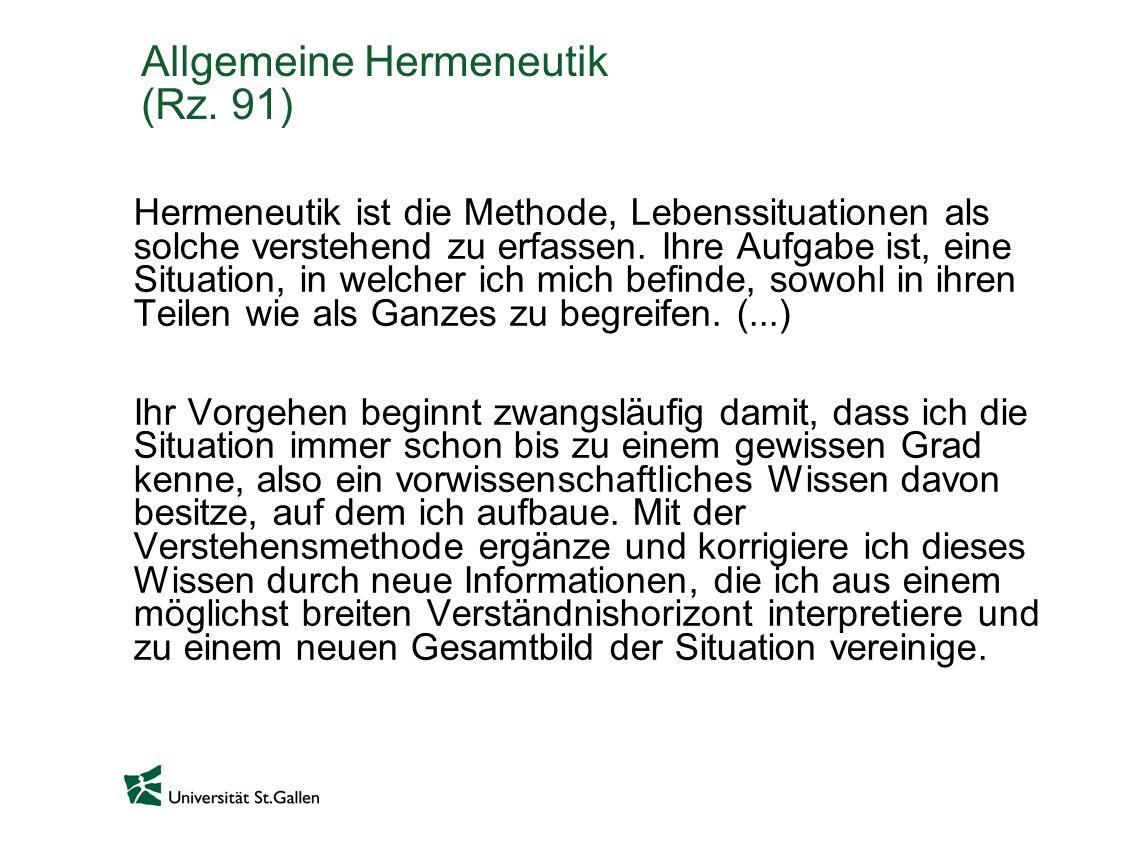 Allgemeine Hermeneutik (Rz. 91)