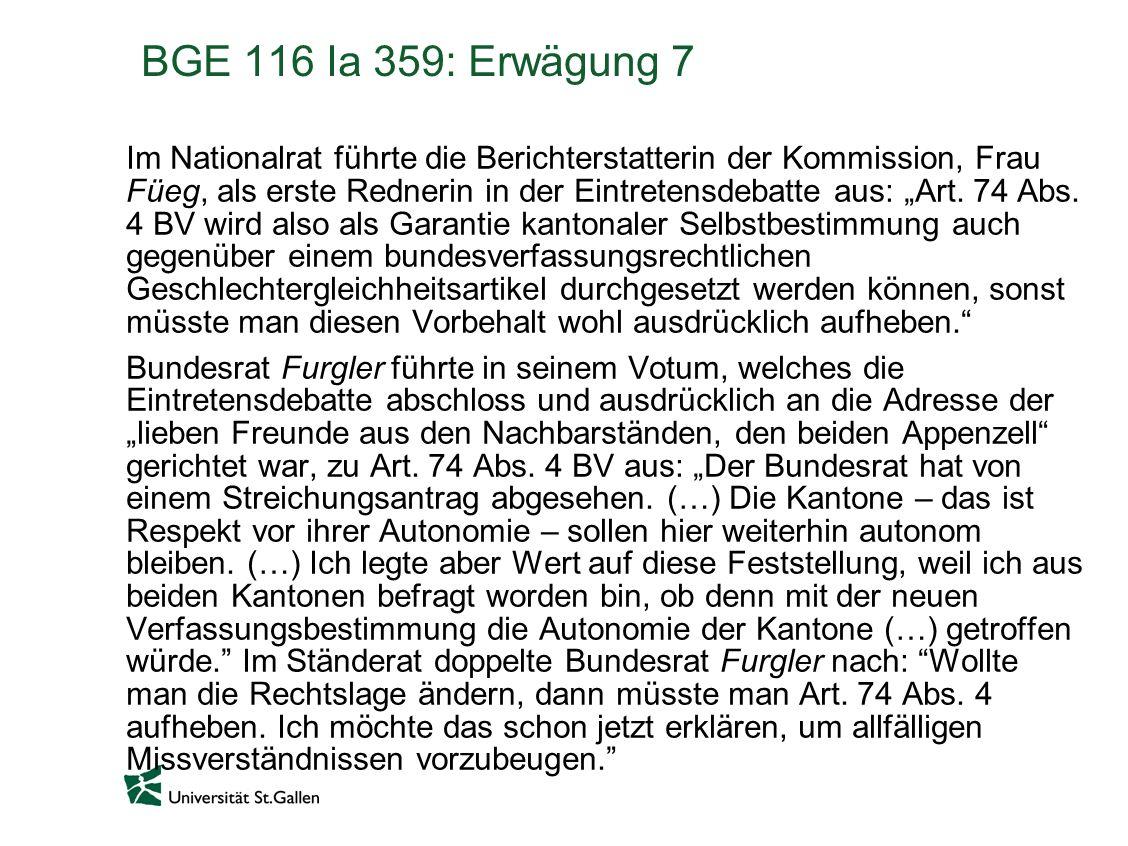 BGE 116 Ia 359: Erwägung 7