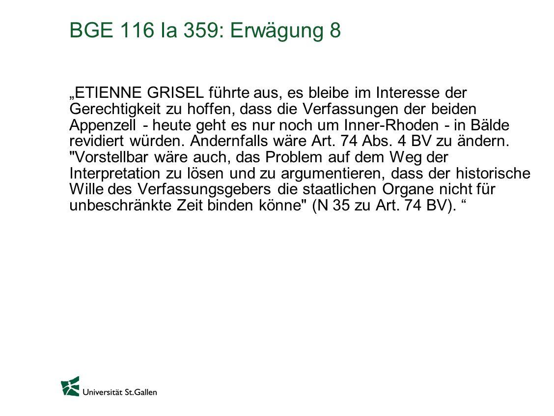 BGE 116 Ia 359: Erwägung 8