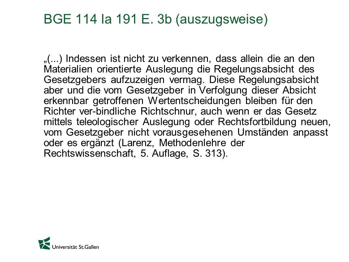 BGE 114 Ia 191 E. 3b (auszugsweise)